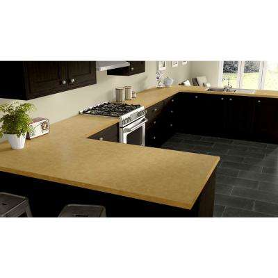 2 in. x 3 in. Laminate Countertop Sample in Maroochy Brush with Standard Matte Finish