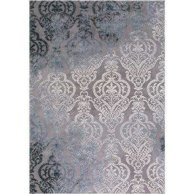 Thema Lancing Soft Gray 7 ft. 10 in. x 10 ft. 6 in. Area Rug