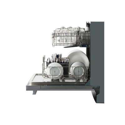 18 in. Top Control Quiet Dishwasher in Stainless Steel with Stainless Steel Tub and Decoration Door
