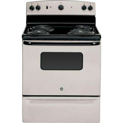 31 in. 5.0 cu. ft. Electric Range in Silver