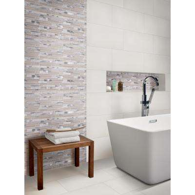 White 12 in. x 24 in. Polished Porcelain Floor and Wall Tile (16 sq. ft. / case)
