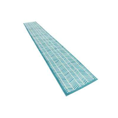 Metro Feather Turquoise 2' 0 x 13' 0 Runner Rug