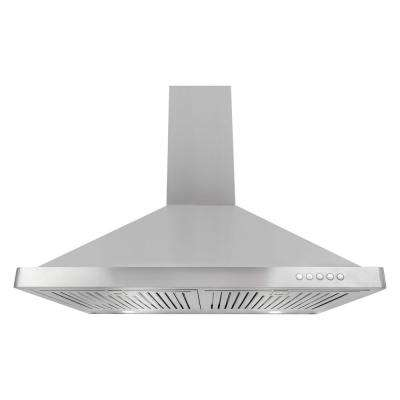 30 in. Convertible Wall Mount Range Hood in Stainless Steel with LED Lighting and Permanent Filters