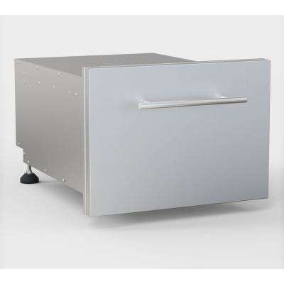 13 in. H 304 Stainless Steel Multi-Configurable Tilt-Out Paper Towel, Cutlery Drawer and Cutting Board Combo