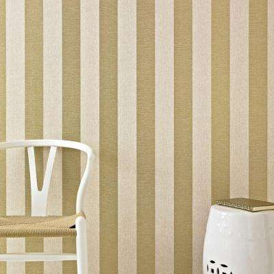 Ariadne Beige and Gold Wallpaper