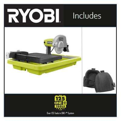 9 Amp Corded 7 in. Overhead Wet Tile Saw with Comfort Foam Knee Pads