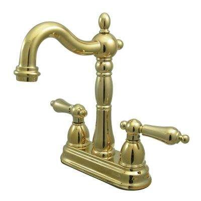 Victorian 2-Handle Bar Faucet in Polished Brass