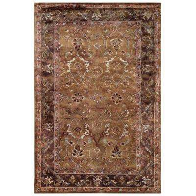 Rosedown Collection Caper and Sepia 9 ft. x 12 ft. Indoor Area Rug