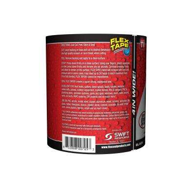 Flex Tape Black 4 in. x 5 ft. Strong Rubberized Waterproof Tape