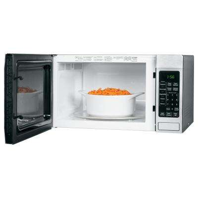 1.6 cu. ft. Countertop Microwave Oven in Stainless Steel