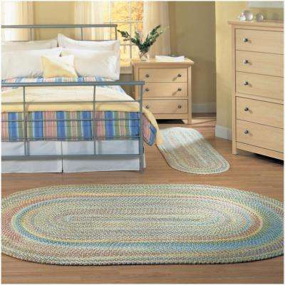 Seabrook Chenille 2 ft. x 8 ft. Kiwi Braided Runner Rug