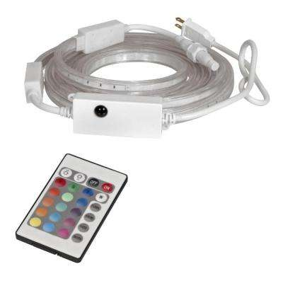 Mosaic 13 ft. LED Outdoor/Indoor Colors-Changing Flexible Ribbon-Light Starter Kit