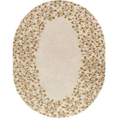 Canaan Ivory 6 ft. x 9 ft. Oval Indoor Area Rug