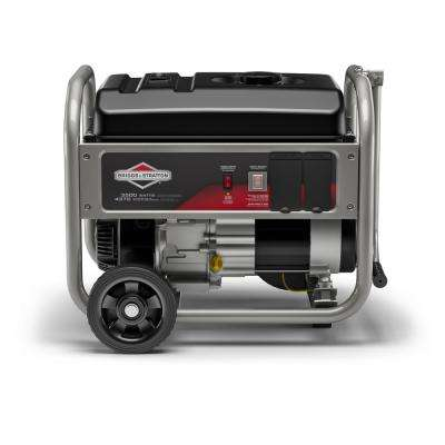 3,500-Watt Gasoline Powered Manual Start Portable Generator with Briggs and Stratton Engine