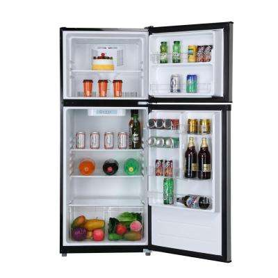 24 in. W 9.9 cu. ft. Top Freezer Refrigerator in Stainless Steel