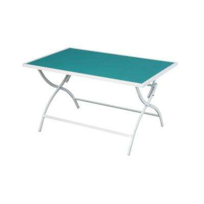 Parksville Folding Sling Top Patio Dining Table