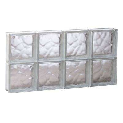 Frameless Wave Pattern Non-Vented Glass Block Window