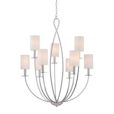 Castana Collection 9-Light Chrome Chandelier