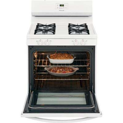 30 in. 5.0 cu. ft. Gas Range with Manual Clean in White