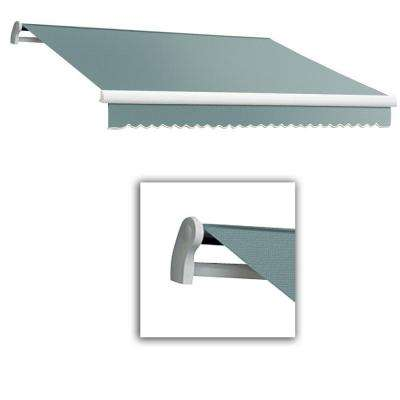 10 ft. Maui-LX Left Motor Retractable Acrylic Awning with Remote (96 in. Projection) in Sage