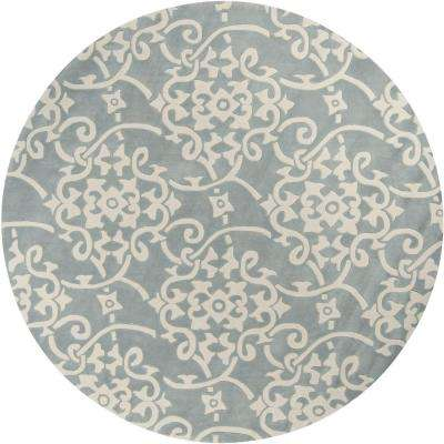 Meredith Silver Gray 8 ft. x 8 ft. Round Area Rug