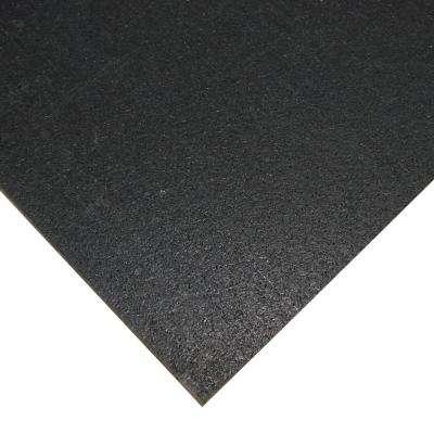 Elephant Bark Black 1/4 in. T x 48 in. W x 144 in. L Rubber Flooring (48 sq. ft.)