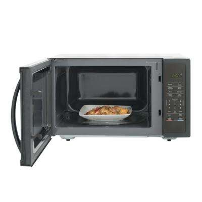 1.6 cu. ft. Countertop Microwave in Black with Gray Cavity