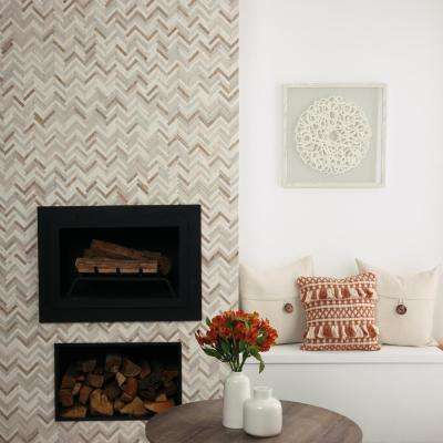 Premier Accents Beige Blend Chevron 10 in. x 12 in. x 8 mm Stone Mosaic Wall Tile (0.71 sq. ft. / piece)