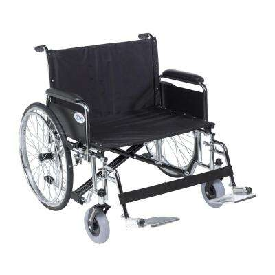 Sentra EC Heavy Duty Extra Wide Wheelchair, Detachable Full Arms, Swing Away Footrests and 30 in. Seat