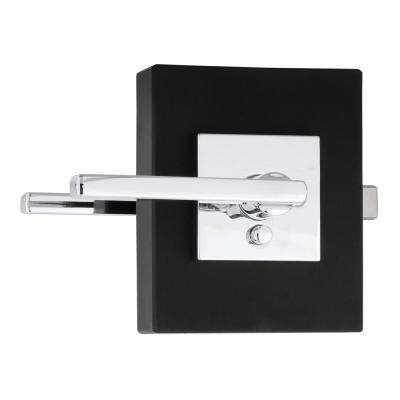Halifax Square Polished Chrome Privacy Bed/Bath Door Lever