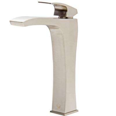 Blackstonian Single Hole Single-Handle Vessel Bathroom Faucet in Brushed Nickel
