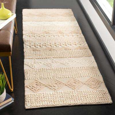 Natura Beige/Ivory 2 ft. 3 in. x 10 ft. Runner Rug