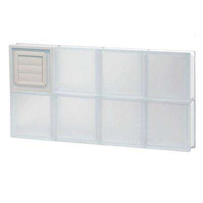 Frameless Frosted Pattern Glass Block Window with Dryer Vent