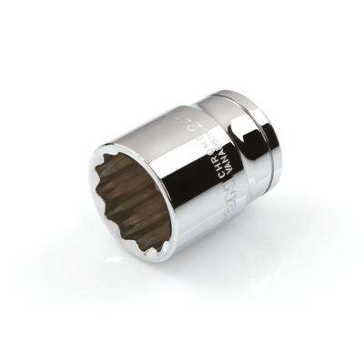 1/2 in. Drive 24 mm 12-Point Shallow Socket