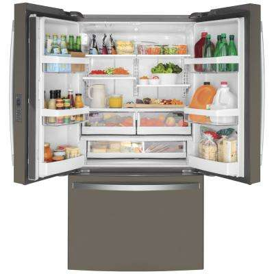 23.1 cu. ft. French Door Refrigerator in Slate, Fingerprint Resistant, Counter Depth and ENERGY STAR