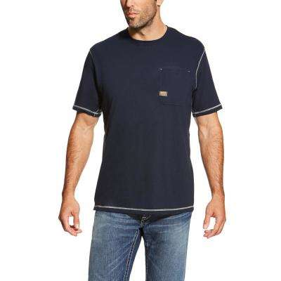 Men's Navy Rebar Short Sleeve Work T-Shirt