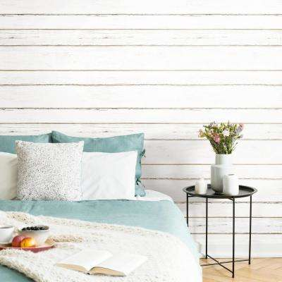 28.18 sq. ft. Shiplap Peel and Stick Wallpaper
