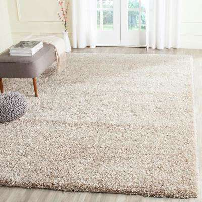 California Shag Beige 8 ft. x 10 ft. Area Rug
