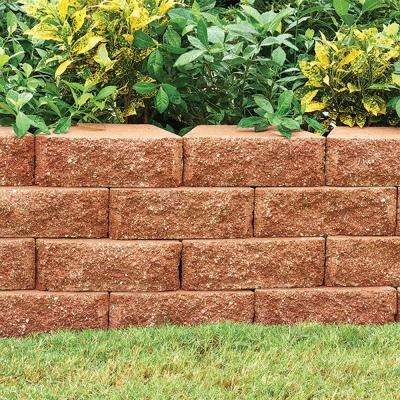 RockWall Small 4 in. x 11.75 in. x 6.75 in. Terra Cotta Concrete Retaining Wall Block (144-Piece/46.5 sq. ft./Pallet)
