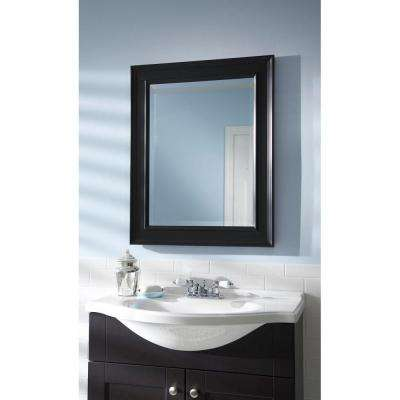 Grasmere 30 in. x 24 in. Black Framed Mirror
