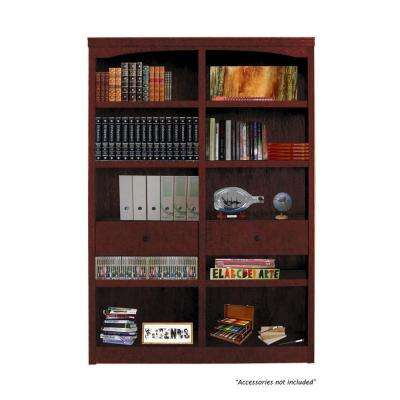Drop in Shelf and Drawer Unit for Double Wide Midas Cherry Bookcase