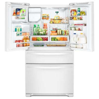 25 cu. ft. French Door Refrigerator in White