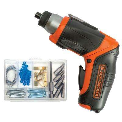 4-Volt MAX Lithium-Ion Cordless Rechargeable Pivot Screwdriver with Charger and Accessories