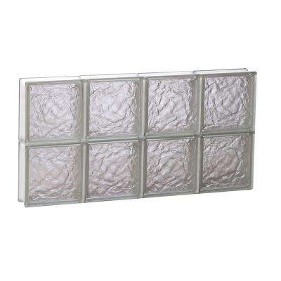 Frameless Ice Pattern Non-Vented Glass Block Window