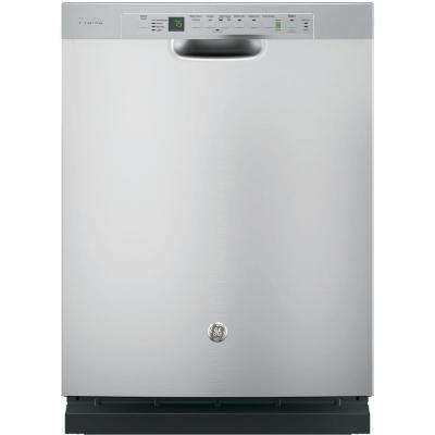 Stainless Steel Interior Dishwasher with Front Controls in Stainless Steel