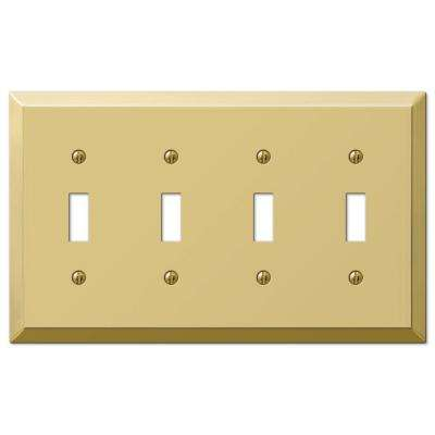 Century Steel 4 Toggle Wall Plate - Bright Brass