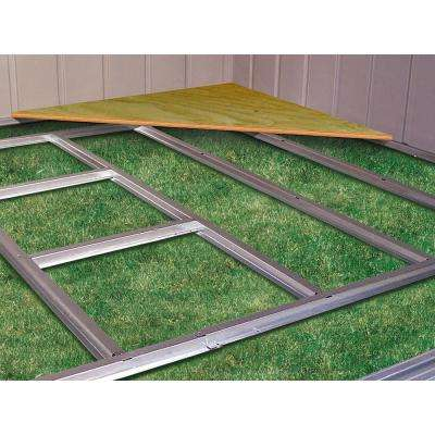10 ft. W x 7 ft. D HDG Galvinized Steel Floor Frame Kit for Admiral and Viking Sheds (Floor Material Not Included)