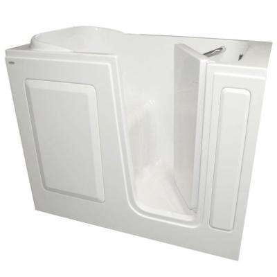 Gelcoat 4 ft. Walk-In Right Quick Drain Bathtub in White