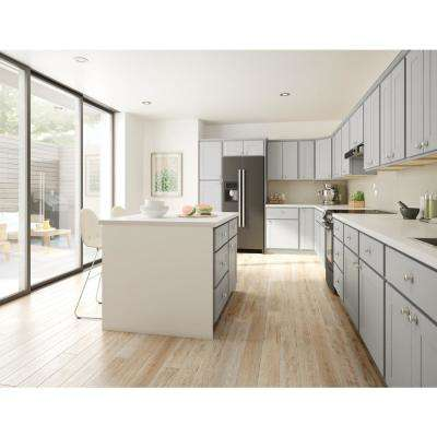 Princeton Shaker Assembled 12x34.5x21 in. Bathroom Vanity Drawer Base Cabinet in Warm Grey