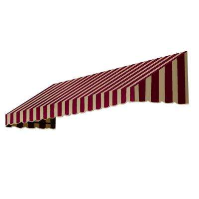 8 ft. San Francisco Window/Entry Awning (24 in. H x 36 in. D) in Burgundy / Tan Stripe